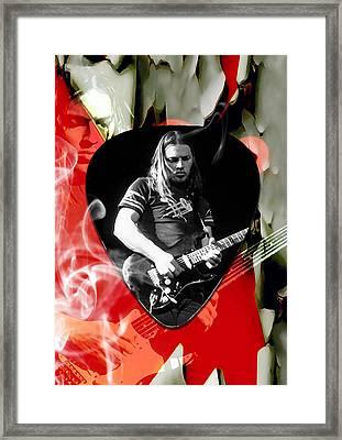 David Gilmour Pink Floyd Art Framed Print