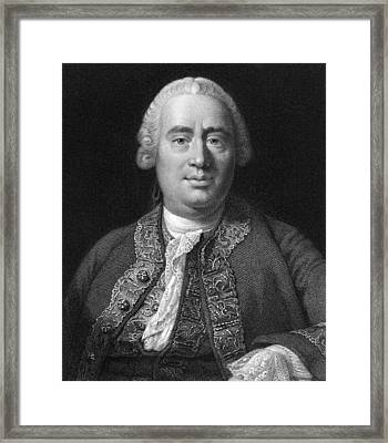 David Hume, Scottish Philosopher Framed Print by Middle Temple Library