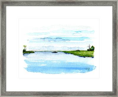 Davis Bayou Ocean Springs Mississippi Framed Print by Paul Gaj