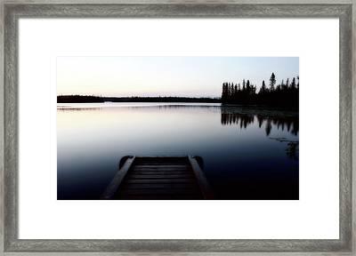 Dawn At Lynx Lake In Northern Saskatchewan Framed Print