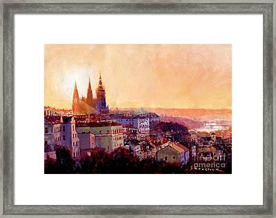 Sundown Over Prague Framed Print by Yuriy Shevchuk
