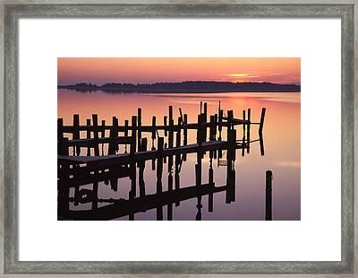 Dawn On The Bay Framed Print by Eric Foltz