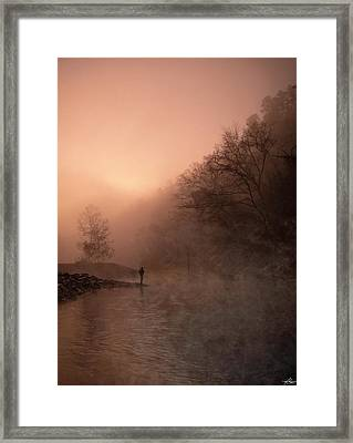 Dawn On The Lower Mountain Fork River Framed Print