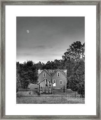 Day Moon Framed Print