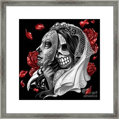 Day Of The Dead Bride Framed Print