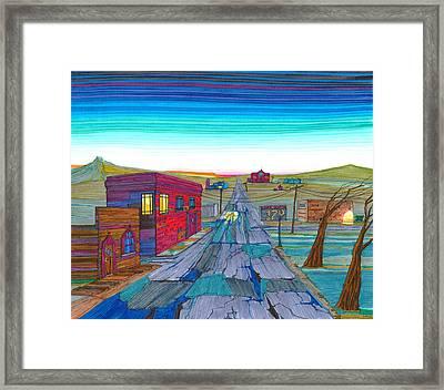 Daybreak In Mckenzie County Framed Print