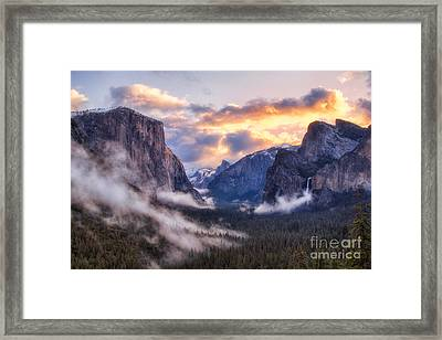 Daybreak Over Yosemite Framed Print