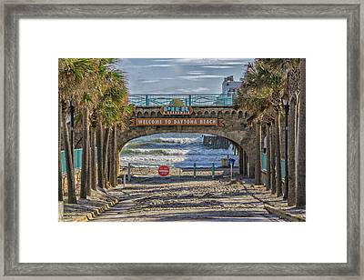 Daytona Beach Framed Print