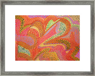 Framed Print featuring the painting Dazzling Dots by Polly Castor