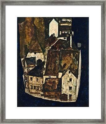 Dead City IIi City On The Blue River IIi 1911 Framed Print by Egon Schiele