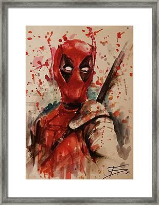 Deadpool Framed Print by Tal Dvir