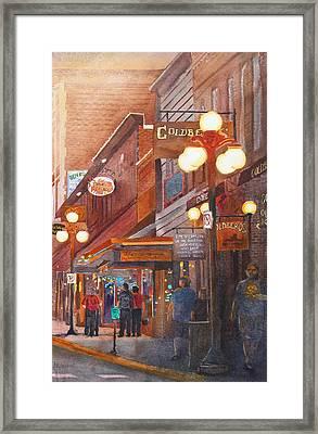 Deadwood Nights Framed Print by Ally Benbrook