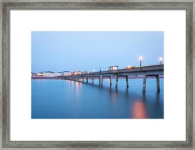 Deal Pier Framed Print by Ian Hufton