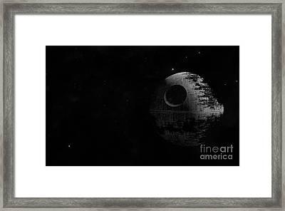 Death Star Framed Print by Baltzgar