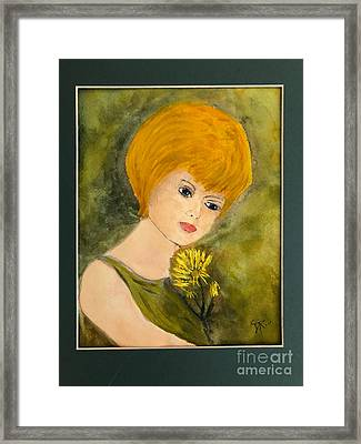 Framed Print featuring the painting Debbie by Donald Paczynski