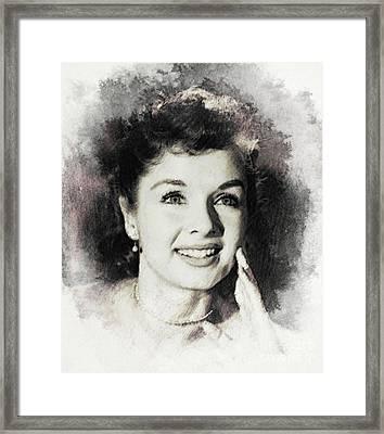 Debbie Reynolds, Vintage Actress Framed Print