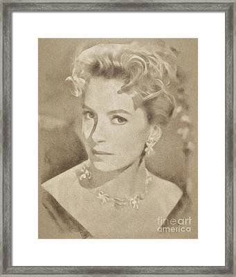 Deborah Kerr, Vintage Hollywood Actress Framed Print