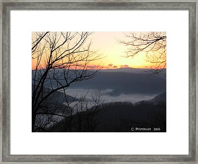December Sunrise Framed Print