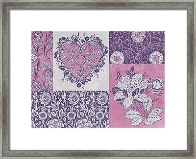 Deco Heart Pink Framed Print