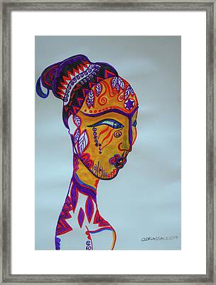 Decorated African Queen Framed Print by Gloria Ssali