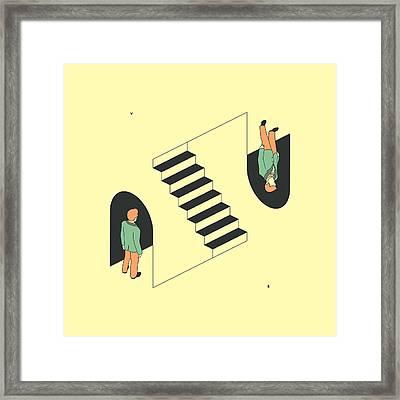 Doppelganger Framed Print by Jazzberry Blue