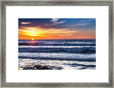 Sunset - Del Mar, California View 1 Framed Print