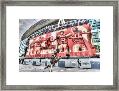 Dennis Bergkamp Statue Emirates Stadium Framed Print by David Pyatt