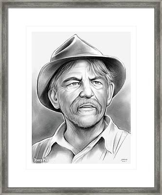 Denver Pyle Framed Print by Greg Joens