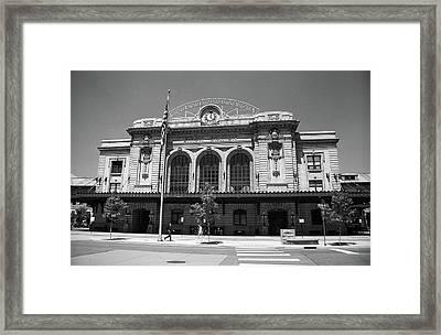 Denver - Union Station Film Framed Print by Frank Romeo