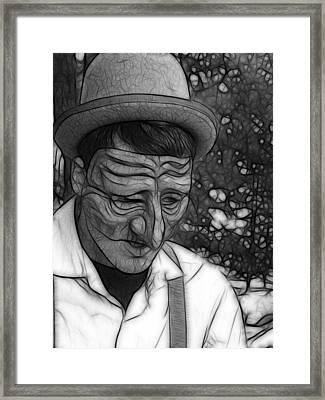 Depression Framed Print by Maria Dryfhout
