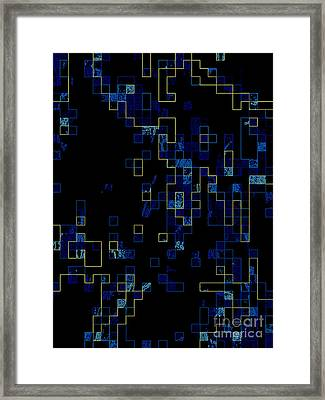 Framed Print featuring the mixed media Depth by Kristine Nora