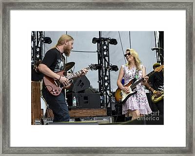 Derek Trucks And Susan Tedeschi With Tedeschi Trucks Band  Framed Print