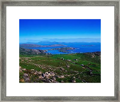 Derrynane Harbour, Caherdaniel, Ring Of Framed Print by The Irish Image Collection