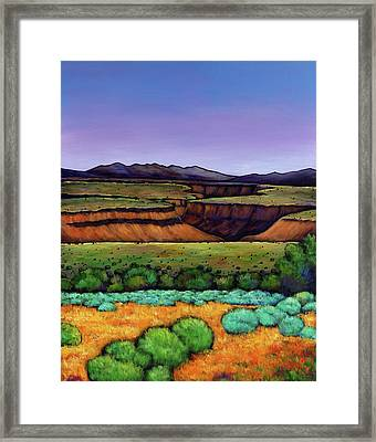 Desert Gorge Framed Print by Johnathan Harris