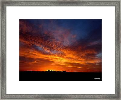 Desert Sunset  Framed Print by Adam Photohog Jones