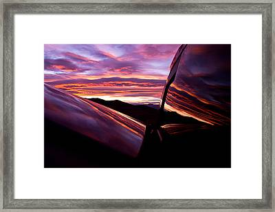 Desert Sunset  Framed Print by Carl Jackson