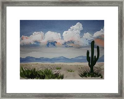 Desert Thunderheads Framed Print