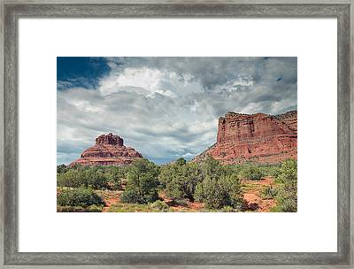 Desert View, Sedona, Arizona Framed Print by American School
