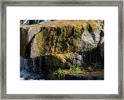 Desert Waterfall 2 Framed Print