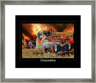 Despiration Framed Print by Calum Faeorin-Cruich