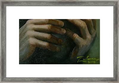 Detail - Temptation Of Christ Framed Print by R Zulienn