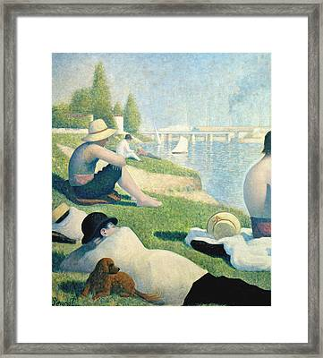 Detail From Bathers At Asnieres Framed Print