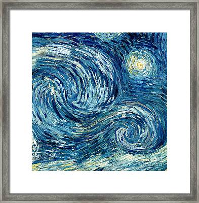 Detail Of The Starry Night Framed Print