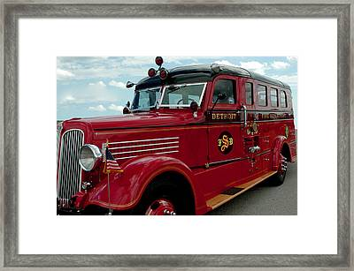 Detroit Fire Truck Framed Print