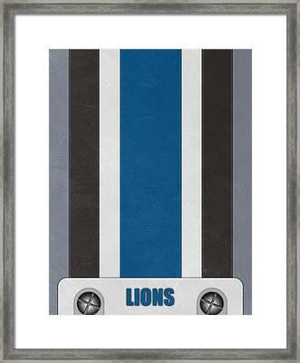 Detroit Lions Helmet Art Framed Print