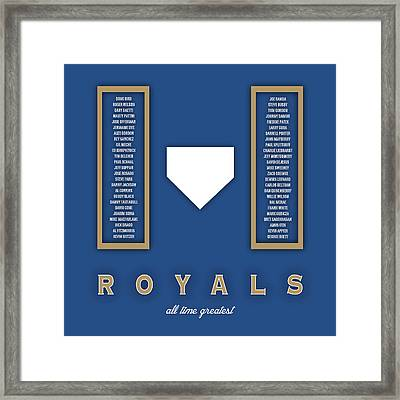 Kansas City Royals Art - Mlb Baseball Wall Print Framed Print
