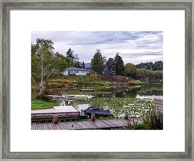 Devils Lake Oregon Framed Print