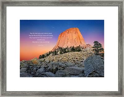 Devils Tower Framed Print