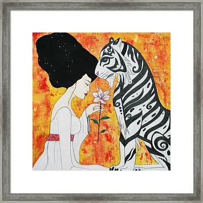 Framed Print featuring the mixed media Devoted by Natalie Briney