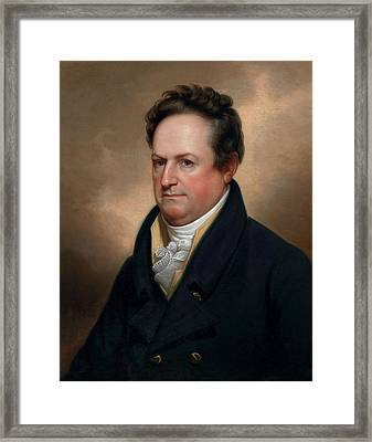 Dewitt Clinton Framed Print by Rembrandt Peale